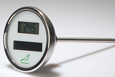 太阳能电子温度计成功案例