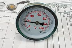 山东烟台热水锅炉温度计成功案例