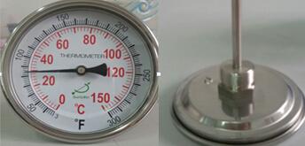 T400C 150C&F双金属温度计成功案例