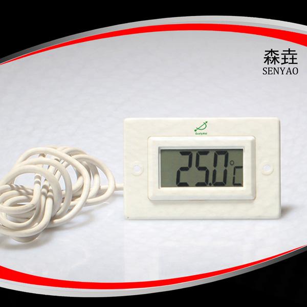 方形带法兰电子温度计 型号:DT100SF