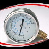 径向半钢充油压力表  型号:PG221AVNCPG
